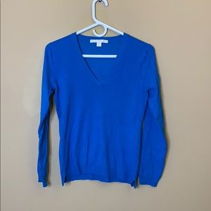 Boston Proper blue V Neck sweater